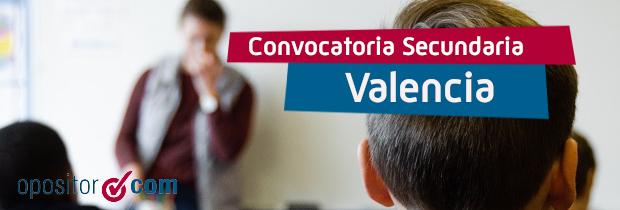Convocatoria de Profesores de Secundaria en Valencia: distribución de plazas