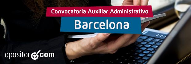 Convocatoria de Auxiliar Administrativo del Ayuntamiento de Barcelona: 320 plazas