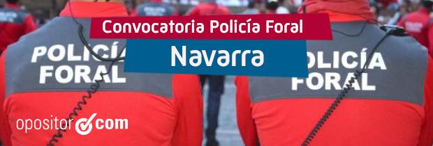 Convocadas 57 plazas de Policía Foral de Navarra