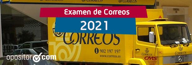 Examen de Correos 2021