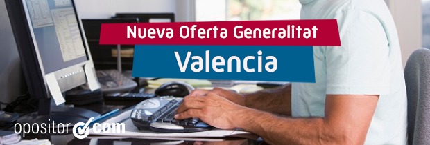 Nueva oferta de la Generalitat Valenciana
