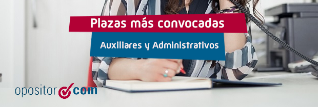 Plazas Administrativos y Auxiliares