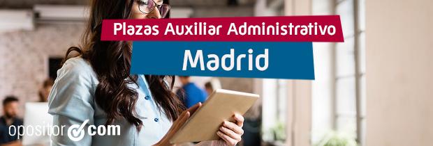 Convocatoria de Auxiliar Administrativo de la Comunidad de Madrid: ¡1.115 plazas!