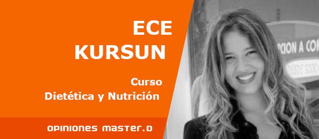 Opinión Nutrición y Dietética MasterD