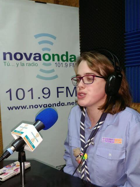 Maria estudia Locucion de radio y television con MasterD