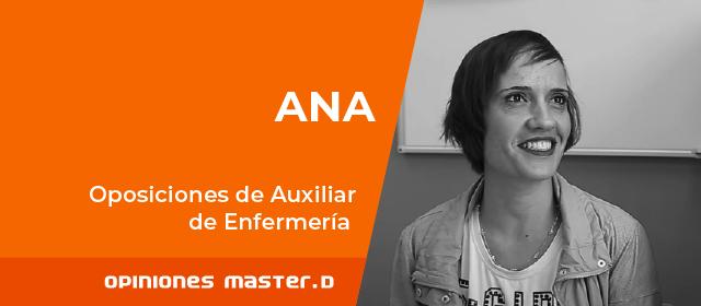 Ana aprueba Oposiciones Auxiliar Enfermería con MasterD Sevilla