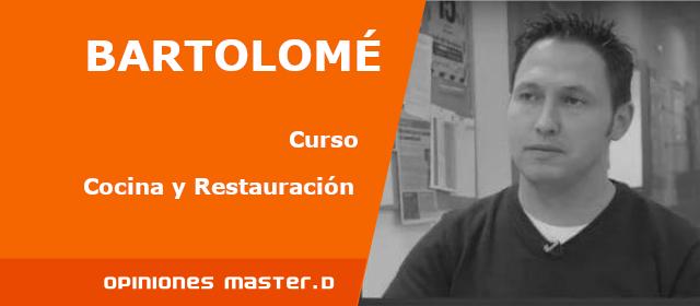 Tolo, alumno de Cocina y Restauración en MasterD Mallorca