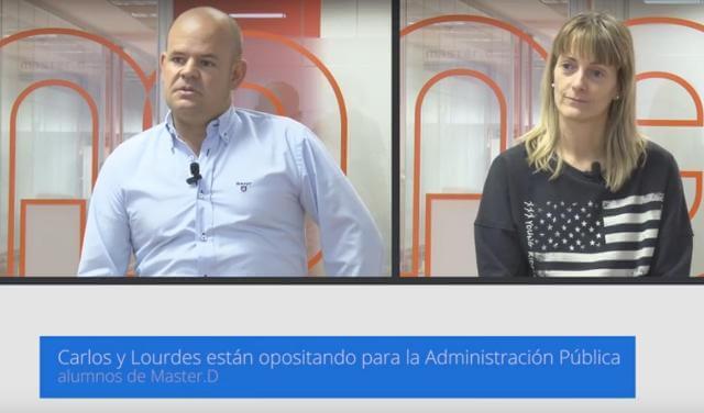 Oposiciones Instituciones Penitenciarias MasterD Madrid. Carlos y Lourdes.
