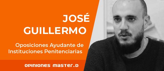 José Guillermo prepara oposiciones prisiones
