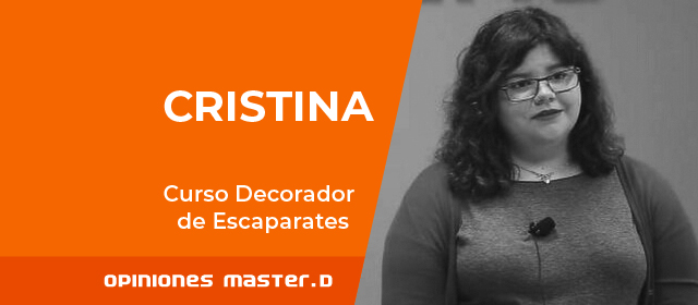 Cristina Curso Decorador Escaparates