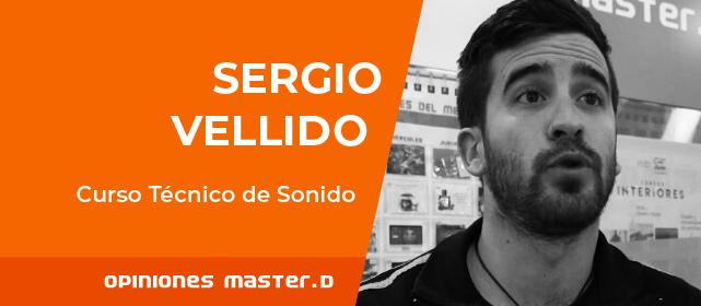 Sergio Vellido estudia el Curso de Técnico de Sonido en MasterD