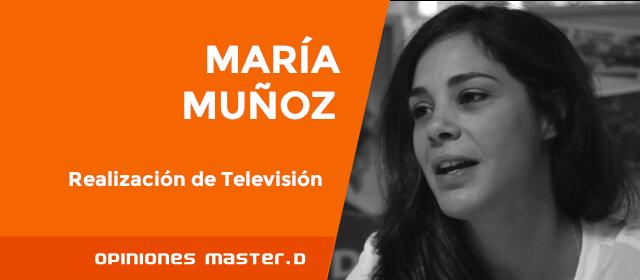 María estudia Realización Audiovisual en MasterD Tenerife