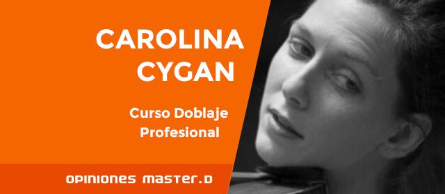 Carolina, alumna de MasterD Coruña, ganadora del Reto de Doblaje